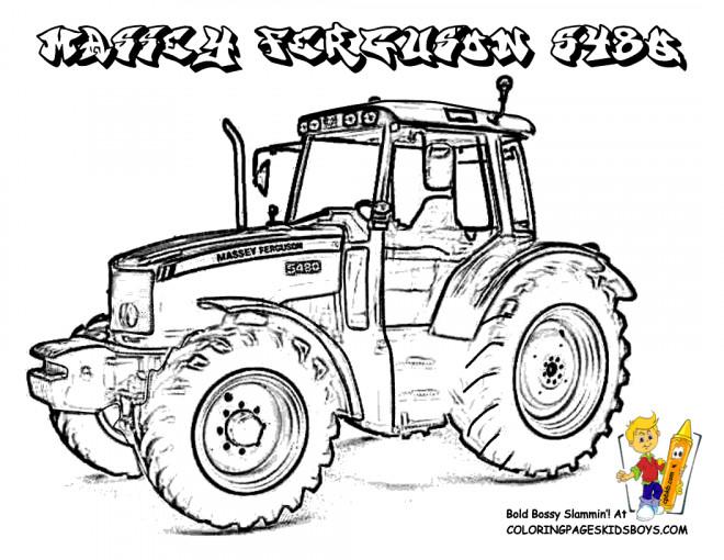 Coloriage Tracteur Massey Ferguson Dessin Gratuit A Imprimer