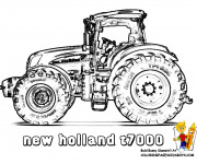 Coloriage Tracteur New Holland