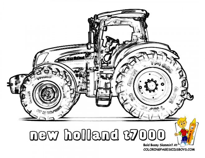 Coloriage Tracteur New Holland Dessin Gratuit A Imprimer
