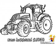 Coloriage Tracteur New Holland en vecteur