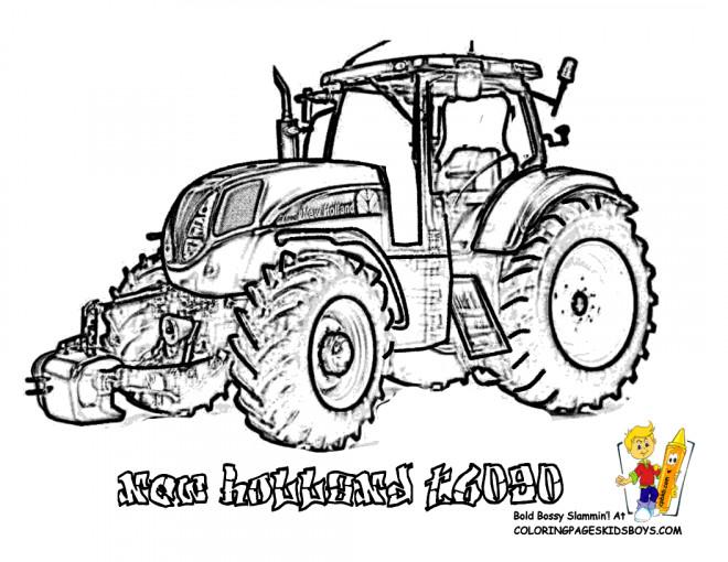 Coloriage tracteur new holland en vecteur dessin gratuit imprimer - Coloriage tracteur claas ...