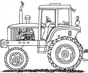 Coloriage Tracteur pour travaux agricole