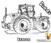 Coloriage Tracteur réaliste
