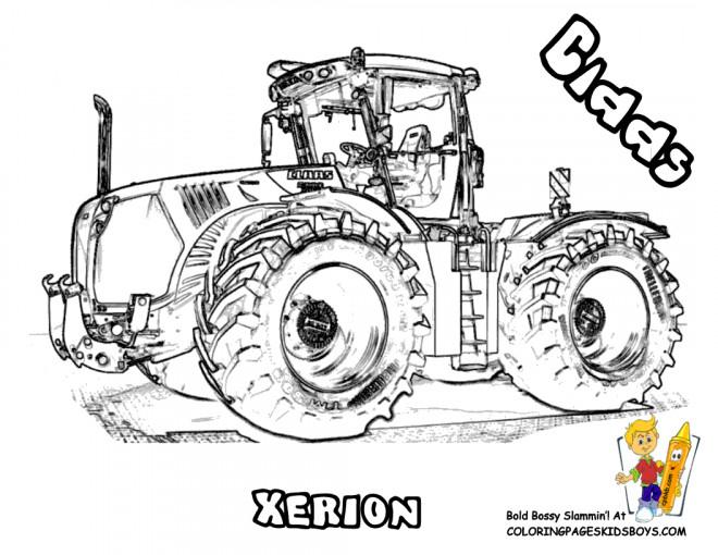 Coloriage Tracteur Realiste Dessin Gratuit A Imprimer