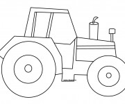 Coloriage Tracteur simple