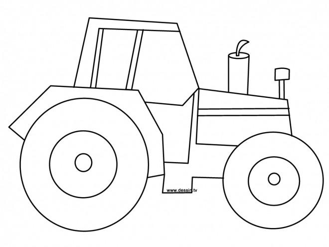 Coloriage tracteur simple dessin gratuit imprimer - Coloriage tracteur en ligne ...
