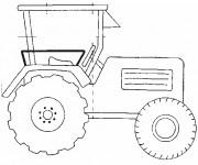 Coloriage Tracteur simplifié