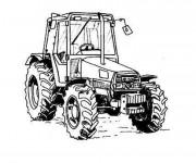 Coloriage et dessins gratuit Tracteur stylisé à imprimer