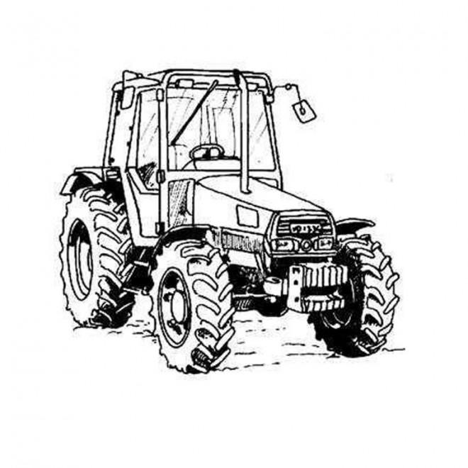 Coloriage et dessins gratuits Tracteur stylisé à imprimer