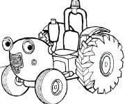 Coloriage Tracteur Tom dessin animé