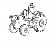 Coloriage Tracteur Tom magique