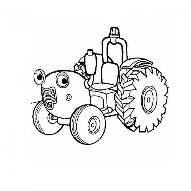 Coloriage Tracteur Tom magique dessin gratuit à imprimer