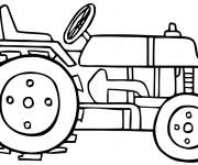 Coloriage Tracteur vectoriel