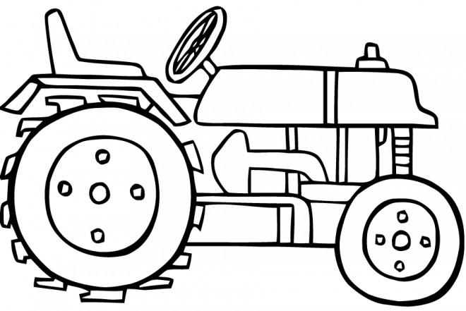 Coloriage et dessins gratuits Tracteur vectoriel à imprimer