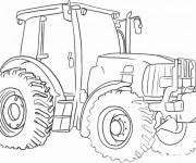 Coloriage et dessins gratuit Tracteur Véhicule agricole à imprimer