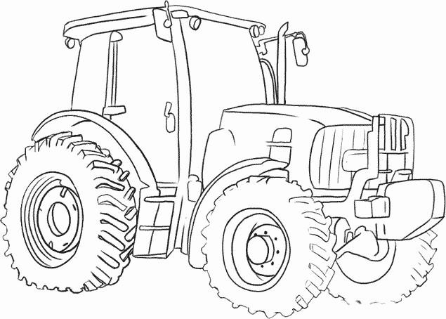 Coloriage Tracteur Véhicule Agricole Dessin Gratuit à Imprimer