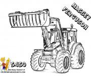 Coloriage et dessins gratuit Tractopelle Massey Ferguson à imprimer