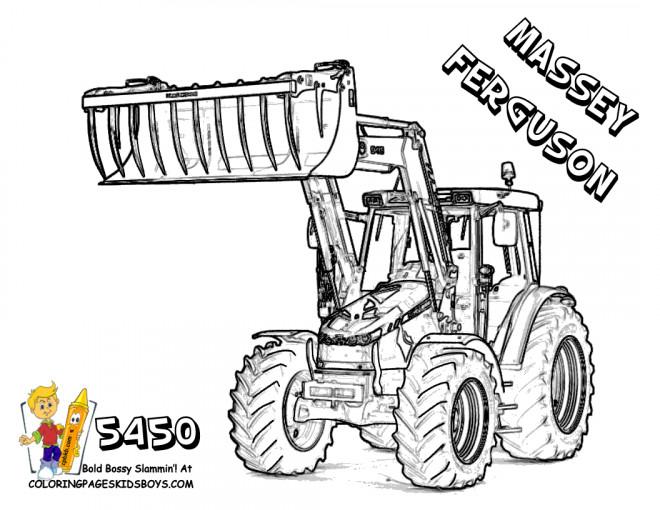 Coloriage tractopelle massey ferguson dessin gratuit imprimer - Coloriage tracteur claas ...