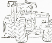 Coloriage et dessins gratuit Un Tracteur en ligne à imprimer