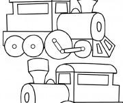 Coloriage Décoration de Locomotive de Train
