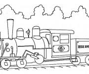 Coloriage Illustration Train sur le chemin