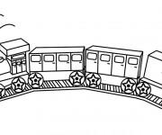 Coloriage Jouet de Train