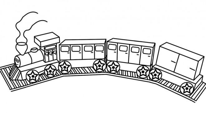Coloriage et dessins gratuits Jouet de Train à imprimer
