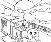 Coloriage et dessins gratuit Le Train magique à imprimer