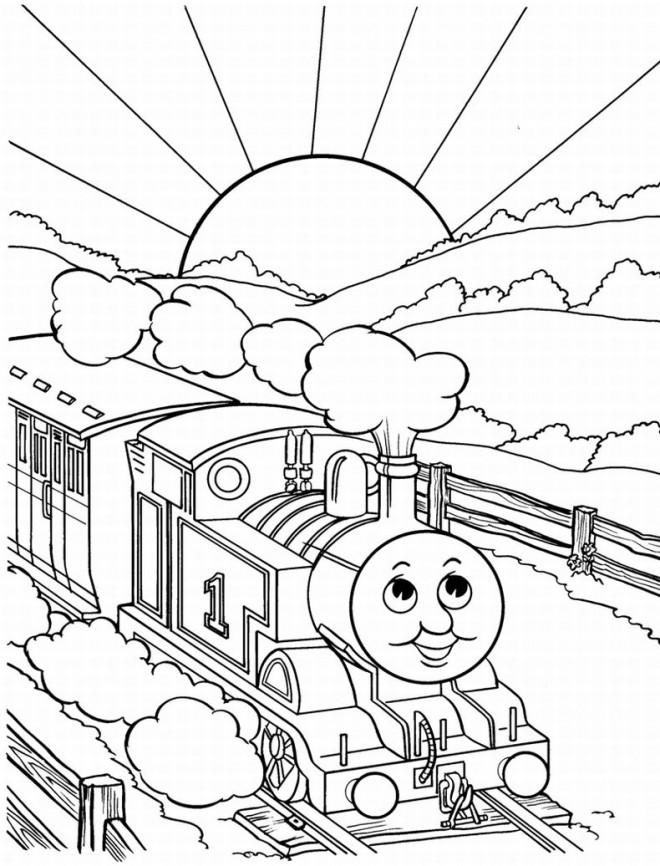 Coloriage et dessins gratuits Le Train magique à imprimer
