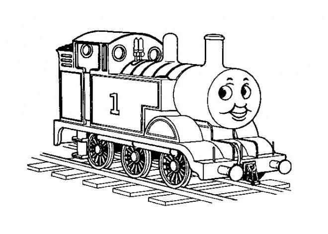 Coloriage et dessins gratuits Le Train Thomas Disney à imprimer