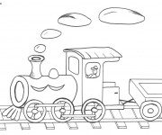 Coloriage Locomotive 14