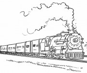 Coloriage Locomotive 2