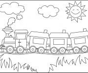 Coloriage Locomotive 36