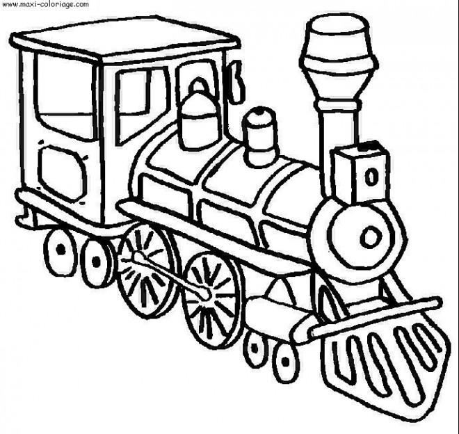 Coloriage Locomotive A Vapeur Dessin Gratuit A Imprimer
