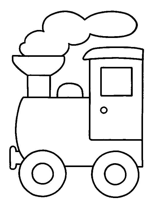 Coloriage et dessins gratuits Locomotive à vapeur maternelle à imprimer