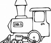Coloriage Locomotive de Train à télécharger