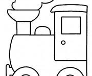 Coloriage Locomotive de Train à vapeur