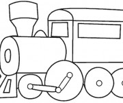 Coloriage Locomotive de Train en ligne