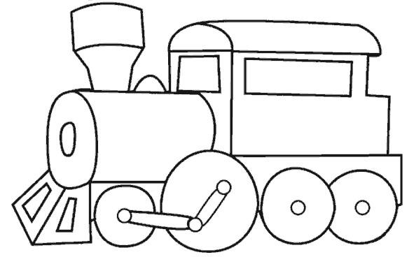 Coloriage et dessins gratuits Locomotive de Train en ligne à imprimer