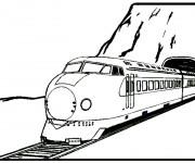 Coloriage Locomotive électrique