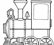 Coloriage Locomotive qui tracte les Wagons