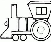 Coloriage Locomotive simplifié