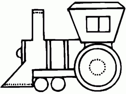 Coloriage et dessins gratuits Locomotive simplifié à imprimer