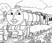 Coloriage Train 1