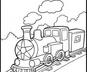 Coloriage Train 3