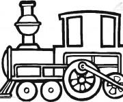 Coloriage Train à découper
