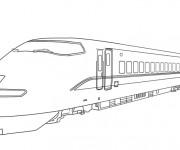 Coloriage Train à grande vitesse