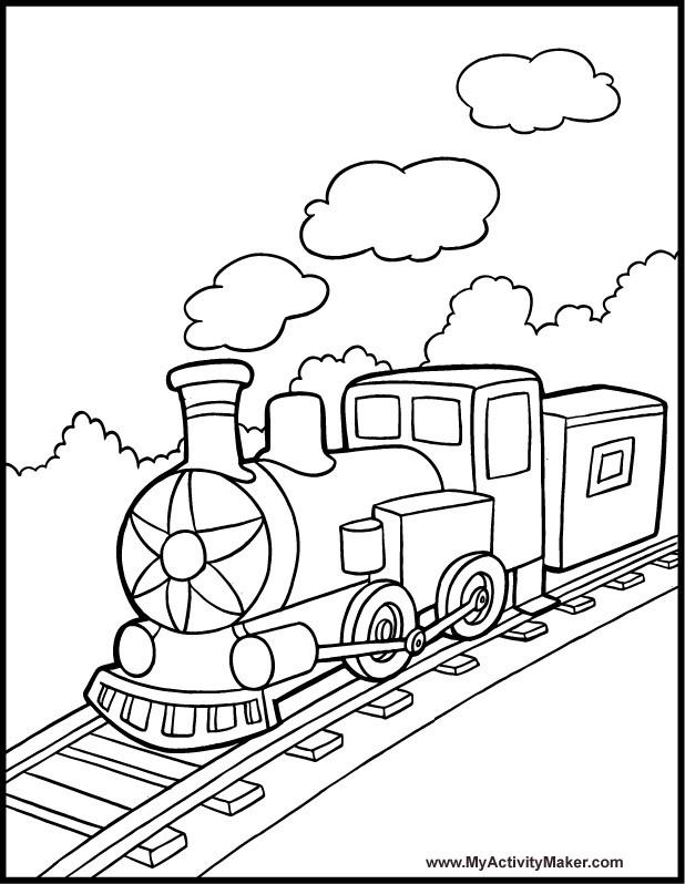 Coloriage et dessins gratuits Train à vapeur à imprimer