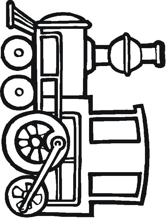 Coloriage et dessins gratuits Train à vapeur vectoriel à imprimer