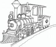 Coloriage Train ancien magnifique